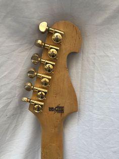Washburn custom shop ivory electric guitar made in the USA. Washburn Guitars, Birdseye Maple, Floyd Rose, Nuno, Bass, Electric, Ivory, The Originals, Shop