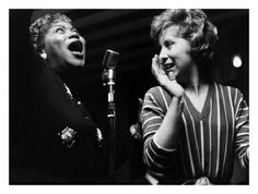 Sister Rosetta and Ottilie Patterson - Photo by Terry Cryer --- this a a fantastic site for jazz photos!