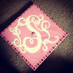 Monogram on your graduation cap, yes please!