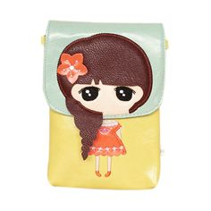 Green & Yellow Little Girl's Pouch, 3% discount @ PatPat Mom Baby Shopping App