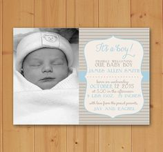 Ready to welcome your little one into the world? This Birth Announcement is perfect! Available in Blue and Pink! Completely Customizable and ready to print quickly and easily!