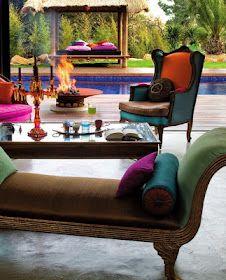 #Indian #decor #furniture #throw #arabian #colors Home Design, Patio Design, Interior Design, Diy Design, Design Ideas, Design Marocain, Style Marocain, Outdoor Rooms, Outdoor Living