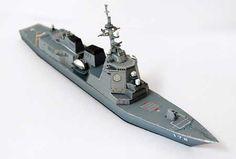 Paperkraft.net - Free Papercraft, Paper Model, & Papertoy: DDG178 JS Ashigara Papercraft (Missile Destroyer)