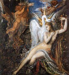 Leda Artist: Gustave Moreau Style: Symbolism Genre: mythological painting
