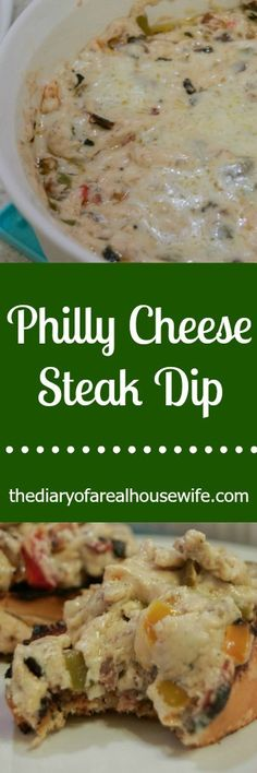 You are not going to find another dip like this one! My husband LOVED it! So eas… Du wirst keinen anderen Dip wie diesen finden! So einfach und lecker. Recipes Appetizers And Snacks, Yummy Appetizers, Grilling Recipes, Cooking Recipes, Easy Snacks, Philly Cheese Steak Dip, Tailgate Food, Tailgate Appetizers, Tailgating