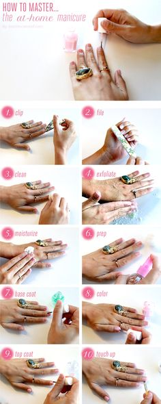 10 Steps to Mastering the At-Home Manicure #nails #manicure #polish