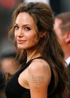 Angelina Jolie Long Hairstyle : Half Up Half Down for Thick Hair