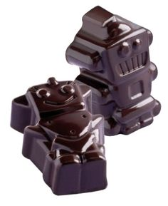 Silikomart Silicone Easy Chocolate Mold, Assorted, Robots