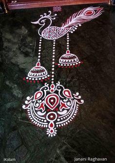 Rangoli Designs Peacock, Rangoli Designs Latest, Simple Rangoli Designs Images, Rangoli Patterns, Rangoli Border Designs, Rangoli Ideas, Colorful Rangoli Designs, Rangoli Designs Diwali, Beautiful Rangoli Designs