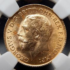 1915 GREAT BRITAIN 1/2 SOVEREIGN GOLD COIN GRADED BY NGC MS 63 #gold-coins