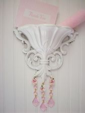 SO SHABBY 5 PIECE SET, SCONCES,WALL PLAQUE AND CANDLES