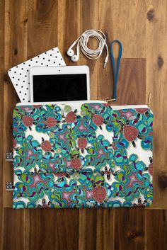 Sharon Turner Turtle Reef Pouch | DENY Designs Home Accessories