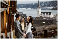 This couple celebrated their engagement in Hallstatt with a pre-wedding snowshoe hike Couple Photography, Wedding Photography, Cloudy Weather, Elopement Ideas, Stay The Night, World Heritage Sites, Photo Sessions, Austria, Getting Married