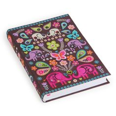 Elephants hand-stitched notebook