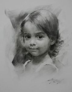 little girl, charcoal drawing, Casey Baugh - Portrait - 307453_109821685792503_1574345723_n.jpg