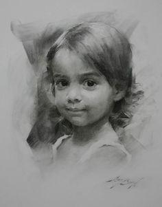 little girl, charcoal drawing, Casey Baugh - Portrait - 307453_109821685792503_1574345723_n.jpg