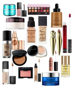 """""""3."""" by courtneyjwotherspoon on Polyvore featuring beauty, GlamGlow, Givenchy, NARS Cosmetics, MAKE UP FOR EVER, Marc Jacobs, Christian Dior, Benefit, Armani Beauty and Bobbi Brown Cosmetics"""