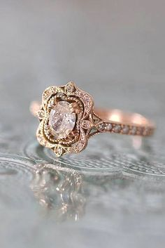 Beautifully detailed engagement ring. #gold http://www.jusdazzle.com/