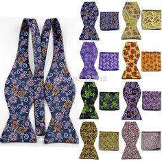 Cheap tie gold, Buy Quality set michael directly from China tie kuan yin tea Suppliers:  2014 Fashion Brand Check Floral Pattern Mens Bow Tie Sets Butterfly Matched Handkerchief for Men          PRO