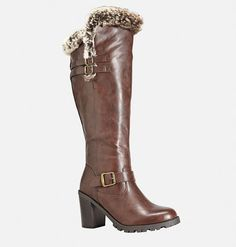 cant wait to get these. Fur Boots, Riding Boots, Wide Width Shoes, All About Shoes, Latest Shoes, Spring Shoes, Fur Trim, Winter Boots, Nice Tops
