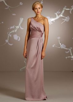 Bridesmaid dress option. It would be in pewter for my black-tie wedding. I really want one shoulder for my BM dresses.