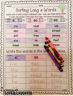 Word Sorts {First Grade Edition} These 40 word sorts contain all the spelling patterns. Phonics Reading, Teaching Phonics, Teaching Language Arts, Kindergarten Literacy, Teaching Reading, Jolly Phonics, Teaching Ideas, Student Teaching, Teaching English