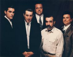 Scorsese with the cast of Good Fellas