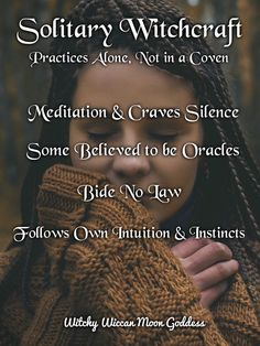 Witchy Wiccan Moon Goddess The Many Types of Witchcraft: Solitary Witch. Wiccan Spell Book, Wiccan Witch, Witch Spell, Wiccan Spells, Hoodoo Spells, Moon Spells, Spell Books, Types Of Witchcraft, Green Witchcraft