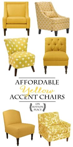 Superbe Affordable Yellow Accent Chair Shopping Guide | Sylish Decor Doesnu0027t Have  To Be Expensive