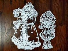 Sewing Toys, Nostalgia, Paper Cutting, Happy New Year, Paper Art, Templates, Christmas Ornaments, Holiday Decor, Plants