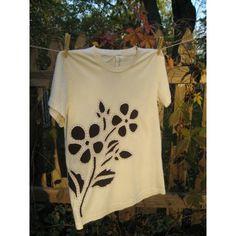 Hand Stitched Organic Reverse Applique T Shirt Flora by NewFlight