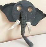Cardboard Elephant mask
