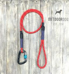 red climbing rope dog leash - handmade by OutdoorDog on Etsy https://www.etsy.com/listing/248821802/red-climbing-rope-dog-leash-handmade