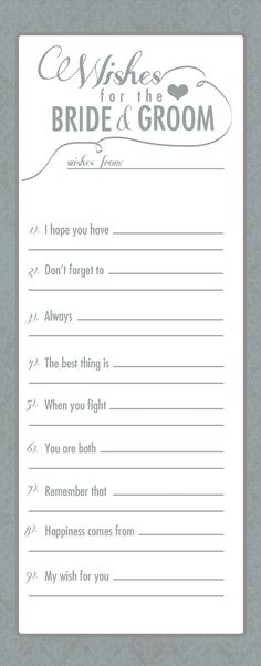 instructions: please fill out an advice card for Amber and Joe, and put it in the jar.  Feel free to use any of the prompts. :-)