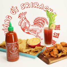 Since We're All on Team Sriracha, 3 Game-Day Eats Starring the Sauce: It's no secret that we (and pretty much the whole world) are on team sriracha, so it only seemed fitting to incorporate it into three game-day nibbles. Sriracha Recipes, Snack Recipes, Snacks, Dip Recipes, Sriracha Wings, Sriracha Sauce, Pesto, Fried Chicken Wings, Popsugar Food