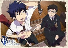 Rin, Yukio and Kuro Wallapaper by EditionsAoNoExorcist Ao No Exorcist, Blue Exorcist Anime, Blue Exorcist Cosplay, Rin Okumura, Vocaloid, Otaku, Anime Shows, Me Me Me Anime, Manga Anime