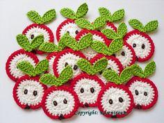 cute crochet apples $2 #crafts @DaWanda in English Deutschland