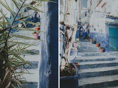 Chefchaouen - Szafszawan. Niebieskie uliczki. Blog, Painting, Art, Art Background, Painting Art, Kunst, Paintings, Performing Arts, Painted Canvas