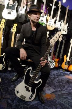Green Day Pictures: Mike Dirnt and Tre Cool attend NAMM 2012