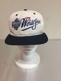 90's Vintage 1998 MLB WORLD SERIES FOX Sports Snapback Hat Nwt NOS #TwinsEnt #WorldSeries