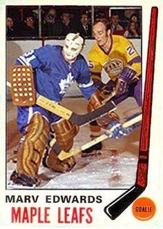 Marv Edwards 1969-70 Hockey Goalie, Hockey Games, Goalie Mask, Los Angeles Kings, Toronto Maple Leafs, Best Player, Chicago Blackhawks, Pipes, Nhl