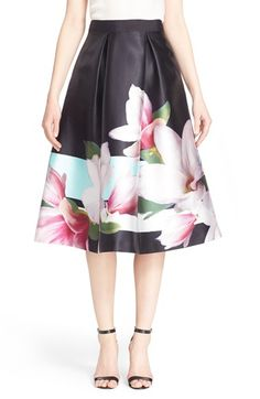 Ted Baker London 'Carolee' Pleated Midi Skirt available at #Nordstrom
