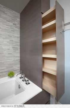 nice idea of a drawer for a smaller bathroom