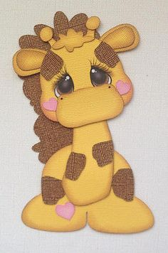 Premade Baby Giraffe Zoo Paper Piecing by My Tear Bears Kira | eBay