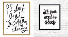 Conheça 10 lojas online onde comprar quadros e poster para montar sua própria gallery wall. Deixe a sua decoração mais bonita sem gastar muito!