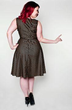 Monique Dress - Gold Dot