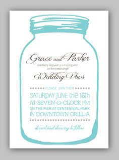 DIY Printable Wedding Invitations Simple Pretty by swooncreative