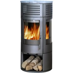 Rondo 7kw contemporary wood burning & multifuel stove