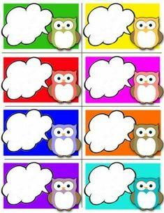 Owl Classroom, Classroom Labels, Classroom Decor, Preschool Room Decor, Valentines Dyi, Owl Birthday Parties, School Labels, Paper Owls, Cute Frames