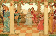 Summer's Joys by Elisabeth Sonrel (1874 – 1953, French).